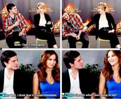 OMGOSH!! lol haha funny pics / pictures / XD / Josh / Jennifer Lawrence / Celebrities / Hunger Games Humor / Catching Fire: Joshifer Cute, Hunger Games, Hungergameshumor, Fandom, Everlark Joshifer, Joshifer Moment, Joshifer Everlark ?, Jlaw
