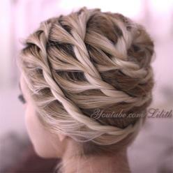 Only an image, no instructions, but I can figure out how to do this. I must figure out how to do this.: Updo Hairstyle, Hairstyles, Hair Tutorials, Hair Styles, Long Hair, Braids, Beauty