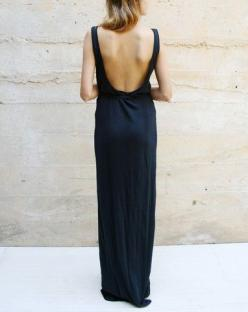 Open back.: Maxi Dresses, Fashion, Back Dresses, Backless Dresses, Style, Open Backs, Black Dress