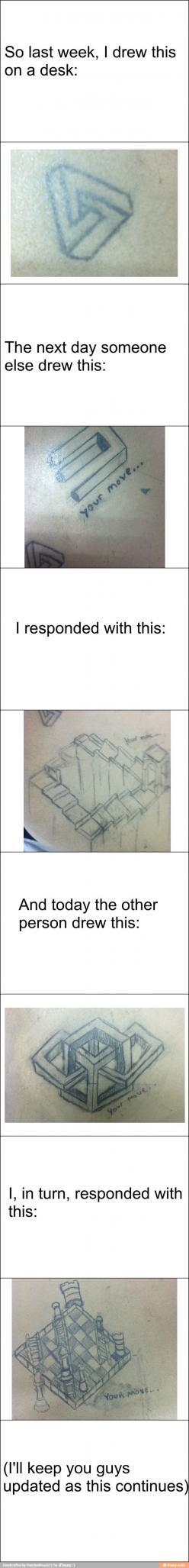 Optical illusion battle / iFunny :): Moving Optical Illusions, Illusion Battle, Desk Doodle, Artists Duel, Draw Illusions, Art School, Funny Illusions, Drawing