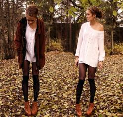 P E T R A . K - socks over tights perfection: Sock, Fashion, Style, Clothes, Dress, Outfit, Fall, Tights