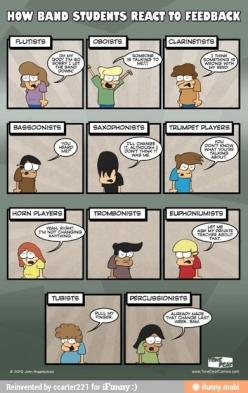 Percussion. True story.: Students React, Band Stuff, Marching Band, Band Nerd, Band Students, Funny, So True, Band Geeks, Music Humor