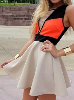 perfect casual winter dress ... bit of colour is perfect for winter <3: Color Blocking, Fashion, Style, Cute Dresses, Colorblock, Outfit
