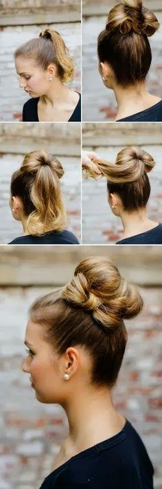Perfect hair tutorials: Diy Hairstyles, Bun Hairstyles, Hair Tutorials, Hair Styles, Hairstyle Tutorials, Hairstyles Haircare, Beauty, Hairstyles Barrettes