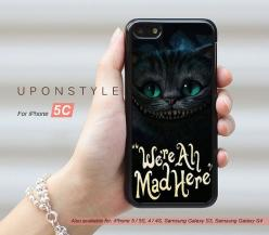 Phone Cases, iPhone 5C Case,  We're All Mad Here, iPhone Case, Phone Covers, Skins, Case for iphone, Case No-50183: Phone Cases Iphone 5C, Mad, Cases Iphone Cases, Phonecases, Idea Cute Cases Iphone, Iphone 5C Cases, Phone Covers, Case No 50183, Iphon