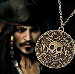 Pirates of the Caribbean Necklace Jack Sparrow Aztec Coin Medallion: Jack, Caribbean Necklace, Aztec Skull, Aztec Coin, Christmas List, Accessories
