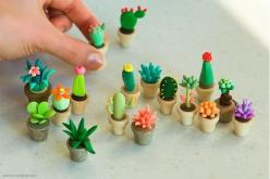 Polymer clay cactus - for the dolls house - our family attempts with salt-dough - http://www.flickr.com/photos/vgenburgos/9932260304/: Polymerclay, Clay Ideas, Clay Succulent, Clay Cactus, Cactus Craft, Polymer Clay, Polymers
