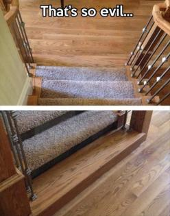 put that in ur house just so you can watch people fall down the stairs all the time. lol: Giggle, Funny Stuff, Humor, Funnies, Evil