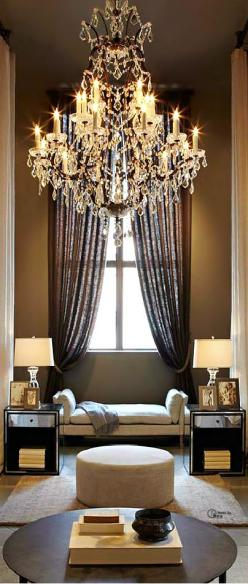 repinned by www.valentinapasserini.com: Beautiful Chandelier, Interior Design, Living Rooms, Chandeliers, Dream House, Home Decor, Sitting Room, Light