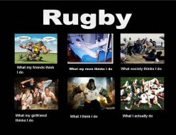 Rugby quotes | Top 10 'What My Friends Think I Do vs What I Actually Do' Posters: Rugby Funny, Sports, Poster, So True, Photo, Things Rugby, Rugby Quote, Rugby Life