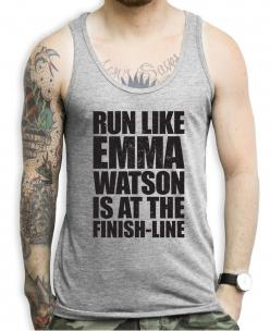 Run Like Emma Watson Is At The Finish Line Tank Top: Tank Tops, Work Tank, Halloween Fitness, Products, Finish Line, Stamina Tank, Tanks