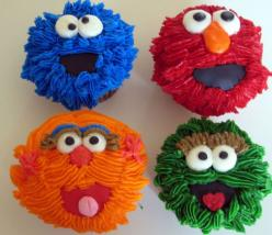 sesame street first birthday - Google Search: Sesame Street Cupcakes, Sesamestreet, Food, Cup Cake, Sesame Streets, 2Nd Birthday, Party Ideas, Birthday Ideas, Birthday Party