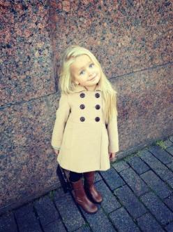 She could grow up and wear the same boots and trench coat (or maybe an outfit she would always wear). Names-- Sadie, Julie, Becka?: Little Girls, Future Daughter, Future Children, Kids Fashion, Baby Girl, Future Kids, Baby Fashion