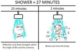 """Showering is somehow very zen... except for that whole """"i have to get clean"""" part: Face, Giggle, 27 Minute, Truth, Quote, Its, Morning, Everytime"""