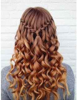 Simple Waterfall Braid: Hairstyles, Hair Styles, Curl Hairstyle, Waterfall Braids