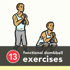 some full-body functional exercises that can make you a stronger athlete, increase power and endurance, and make everyday activities easier.: Dumbbell Moves, Dumbbell Workout, 13 Functional, Fitness, Dumbbell Movements, Functional Exercises, Functional Du
