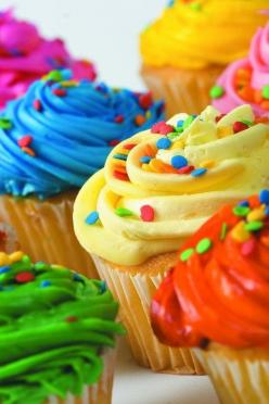 Something about cupcakes just makes you feel good!: Colour, Cup Cakes, Birthday, Idea, Sweet, Food, Colors, Colorful Cupcakes, Rainbow