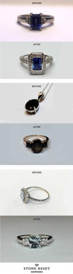Something old and something new! It's easy to transform a loved piece into a new design you'll actually wear with Stone Reset by Gemvara.: