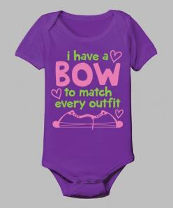 Take a look at this Purple 'A Bow To Match Every Outfit' Bodysuit - Infant by Country Casuals on #zulily today!: Babygirl, Country Girl, Casuals Zulilyfinds, Country Casuals, Infant, Girl Hunter, Baby Girls, Bow, Baby Stuff