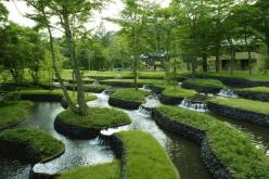 terraced, stepped gardens and water feature . Hoshinoya Karuizawa Resort: Water Feature, Idea, Landscape Architecture, Water Gardens, Japan, Landscape Design, Place, Hotels