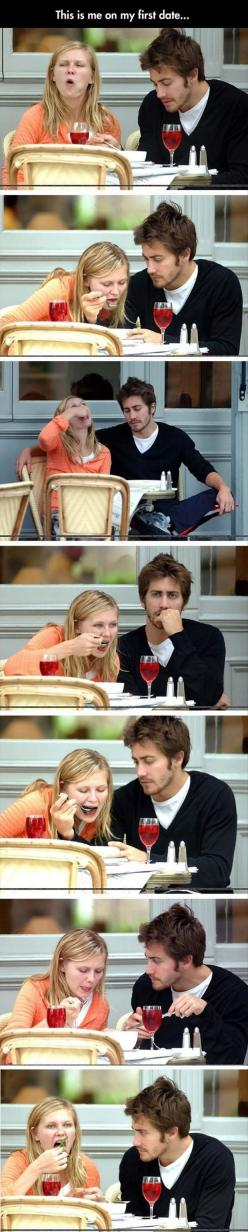 That guy is beautiful: Giggle, Funny Pictures, Uploadfunny Funnypictures, First Dates, Funny Food Quotes, So True, Funny Stuff, So Funny