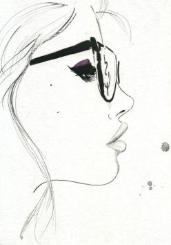 That Nerdy Girl, by Jessica Durran: Art Drawing, Girl Sketch, Fashion Illustration, Faces Drawing, Nerd Girl, Side Face Drawing, Fashion Sketch
