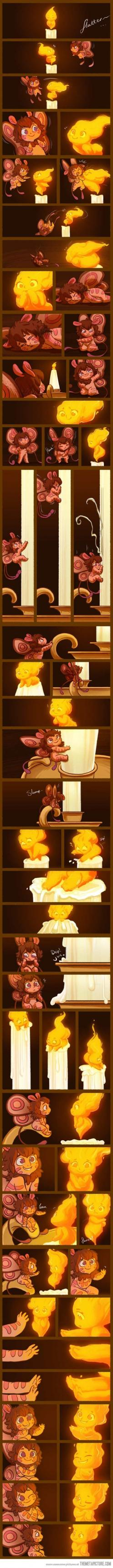 The Moth And The Flame... Full story at   http://stressedjenny.deviantart.com/art/Moth-and-the-Flame-1-347299491: Candle, Ship It, Ships Fandom, Ship Flamoth, Cutest Things, Cute Moth Flame Story Tale, Cute Comic, Beautiful Things