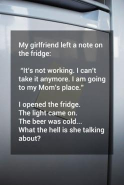 The note in the fridge...: But, Funny Pictures, Quote, Girlfriend, Funny Stuff, Funnies, Humor, Note