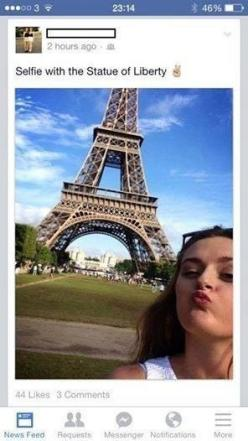 The owner of the world's best/worst selfie: | 28 People Who Are Too Dumb For Their Own Good: Hilarious Quote, Funny Saying, Funny Selfie, Funny Stuff, Funny Fail