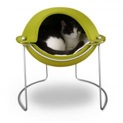 The Pod Cat Bed offers the security of a mountaintop cave with way more style. It serves as your pet's own personal sanctuary - a perfect place for curling up to snooze, hide, or reign supreme. $110.00: Cat Beds, Cats, Green, Pets, Pod Cat, Cat Stuff