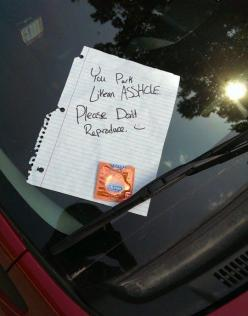 The relationship advice. | 29 Passive-Aggressive Windshield Notes That Forgot How To Passive: Bad Parking, Parking Notes, Passive Aggressive, Don T Reproduce, Funny Stuff, Humor, Funnies, Windshield Note