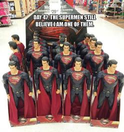 The Supermen.  They still believe I am one of them.  They have yet to notice me...: Stuff, Funny, Humor, Batman, Things, Dark Knight, Superhero