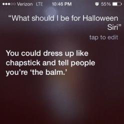 The time she showed how clever she was: | 21 Questions Siri Answered Absolutely Perfectly: Funny Clever Quotes, Siri Answered, Funny Siri Question, Questions Siri, Clever Halloween Costumes Pun, 21 Questions, Answered Absolutely, Funny Answer, Funny Hallo
