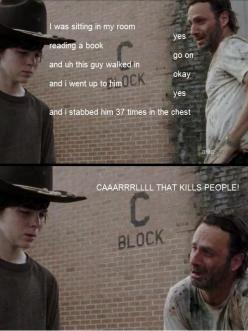 The Walking Dead and Llamas with Hats hahahahahahahhahaha ricks face: Thewalkingdead, Stuff, The Walking Dead, Funny, Even, Funnies, Things, Kills People