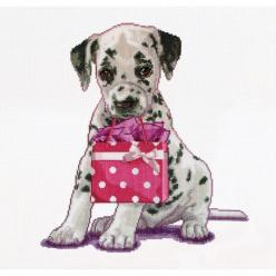 Thea Gouverneur counted-cross-stitch Kit Puppy Went Shopping On Aida: Aida, Cross Stitch Kits, Counted Cross Stitches, Counted Cross Stitch Kit, Puppys, Crosses, Shopping, Kit Puppy
