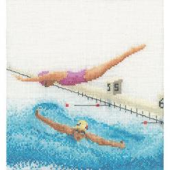 Thea Gouverneur counted-cross-stitch Kit Swimming On Aida: Kit Swimming, Cross Stitch Kits, Aida, Counted Cross Stitches, Counted Cross Stitch Kit, Crosses