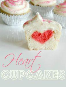 These heart-in-the-middle cupcakes are so cute and are easy to make! Perfect for Valentine's Day! Cupcake recipe: Cupcake Tutorial, Heart In The Middle Cupcakes, Cupcake Recipes, Valentines, Cupcakeideas Cupcakerecipes, Cupcakes Recipe, Heart Cupcakes