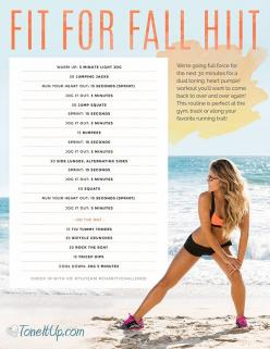 This cardio workout is perfect for the gym, the track or along your favorite running trail: Cardio Workouts, Fall Hiit, Fitness Workouts, Fall Workout, Toneitup Workouts, Exercise, Tone It Up, Workouts Fitness