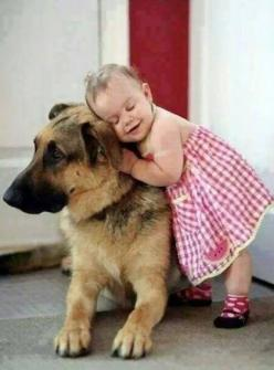 this is just too darn cute! love the little girl's face!! and the dog is being such a good sport!: Animals, Sweet, Dogs, Pet, Children, German Shepherds, Kids, Baby, Friend