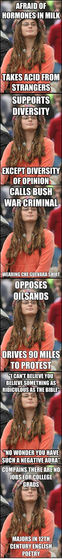 This is perfect.: Damn Hippies, Guy, Some People, Truth, College, So Funny, Liberal Logic, Haha So True