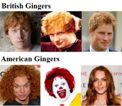 this made me laugh so hard!: American Gingers, Giggle, Funny Stuff, British Gingers, Humor, Funnies, Things, Hilarious