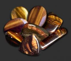 Tiger's eye: Many legends about quartz say that wearing tiger's eye (which is a form of quartz) is beneficial for health and spiritual well being. Legend also says it is a psychic protector, great for business, and an aid to achieving clarity.: Ca
