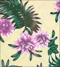 Tropical Flower Purple on Yellow: Flower Power, Yellow Rh, Tropical Prints, Flower Purple, Products, Tropical Flowers