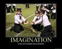 Trumpets... Should go into a campfire: Marching Band, Band Geek, Band Nerd, Band Funny, Imagination, Campfire, Trumpets, Music Band