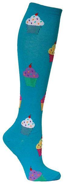 turquoise knee high socks with coloful cupcakes: Awesome Socks, Turquoise Knee, Crossfit Socks, Adore Socks, Coloful Cupcakes, Knee High Socks, Blue Cupcake, Fun Socks