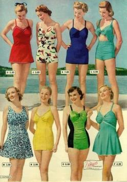 Vintage Bathing Suits: 1940 S, Bathing Suits, Style, Vintage Fashion, Swimsuits, 1940S, Vintage Swimwear