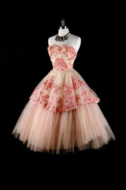 Vintage dress  PINK!!!!!!!!!!!!!!!!!!!!!!!!!!!!!!!!!!!!!!!!!!!!!!!!!!!!!!!!!!!!!!!!!!!!!!!!!!!!!!!!!!!!!!!!!!!!!!!!!!!!!!!!!!!!!!!!!!!!!!!!!!: Pink Tulle, Vintage Inspired Prom Dress, 1950S Dresses, Vintage Fashion, Vintage Dresses, Tulle Wedding
