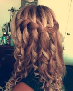 Waterfall Braid http://glamorous-hairstyles.com/48-creative-waterfall-braids-to-inspire-you.html: 150622 Female Hairstyles, Beauty Hair Eyes Lips Nails, Braid Hairstyles, Quinceañera Hairstyles, Hairstyles ️, Hair Makeup Accessories, Cute Hairstyles, Cute