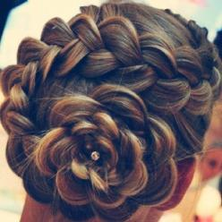 Well that is amazing!!!!     8 Braid Hairstyles Ideas - Stylebees | Stylebees: Hair Ideas, Wedding Hair, Hairstyles, Hair Styles, Makeup, Beautiful, Beauty, Updo, Flower Braids