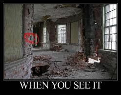 What The Heck I admit I was looking at the circle but I soon found it.: Scary, Brick, When You See It, Funny Stuff, Photo, Creepypasta